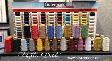 Gutermann threads display