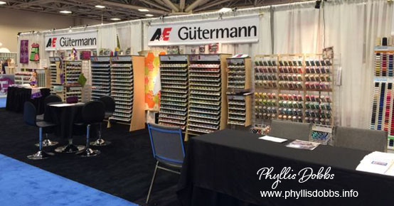 Gutterman A&E Thread booth Quilt Market