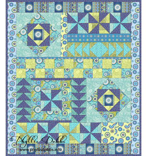 Gypsy Breeze free quilt pattern by Phyllis Dobbs with Marie Osmond Fabrics for Quilting Treasurs
