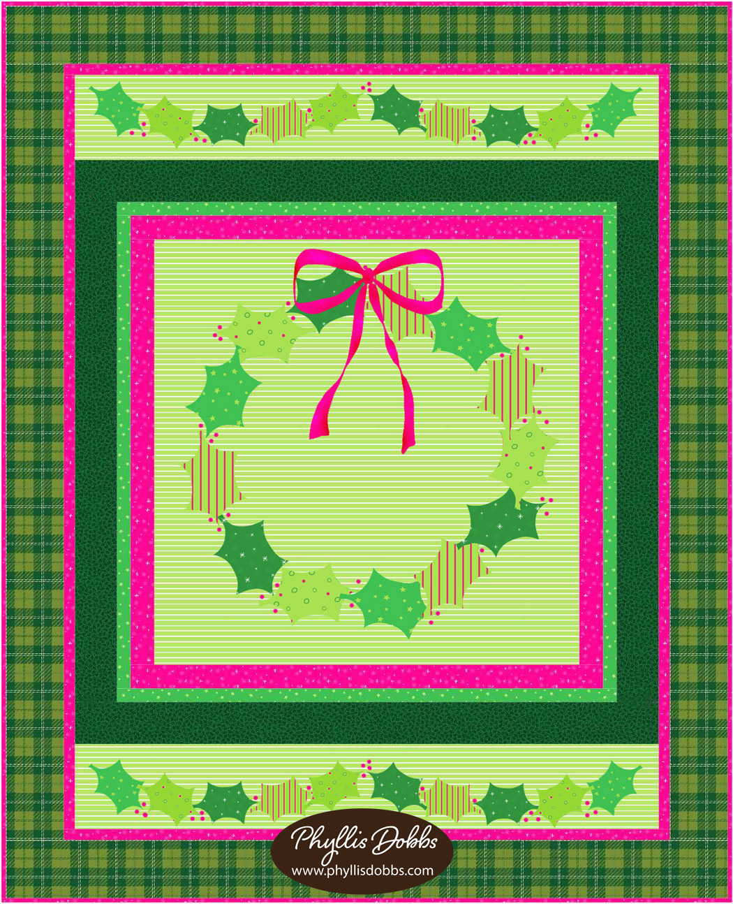 Holly Christmas Quilt