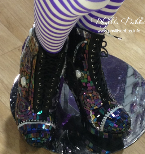 Glass mosaic boots by I Love to Create at CHA