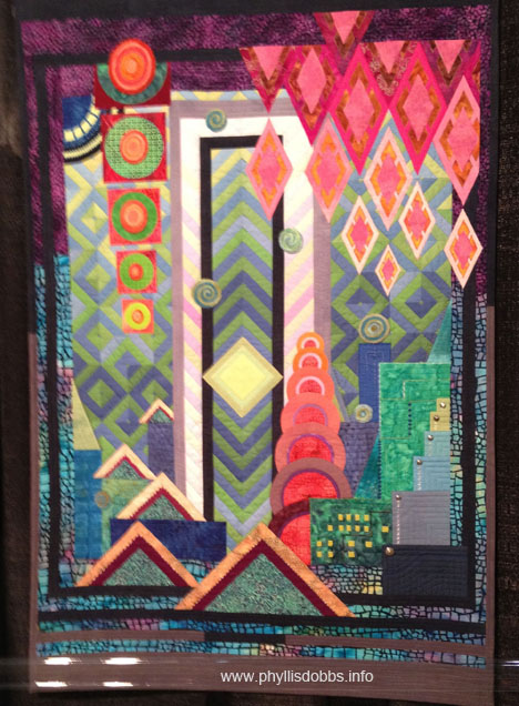 In an Orderly World Quilt by Linda R Guild at Houston Quilt Market