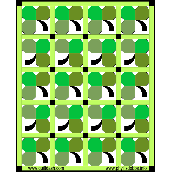Irish spring shamrock quilt pattern