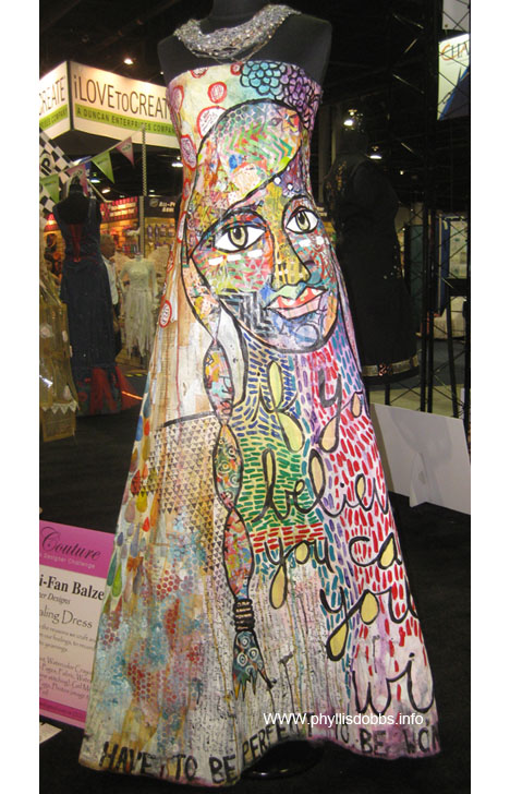 Julie Fei-Fan Balzer dress in the CHA Crafty Couture display