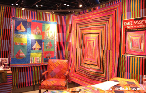 Kaffe Fassett booth at Houston Quilt Market