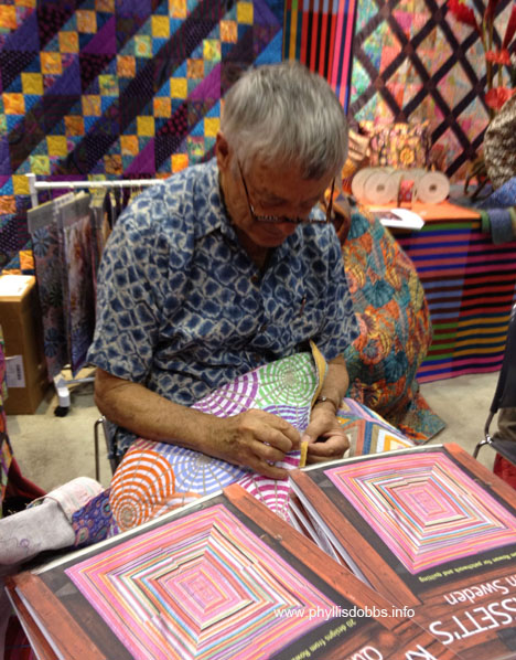 Kaffe Fassett at Houston Quilt Market