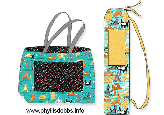 Kitty yoga bag patterns