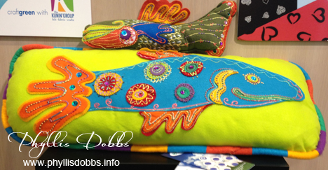 Felt fish pillows by Kunin Group at CHA
