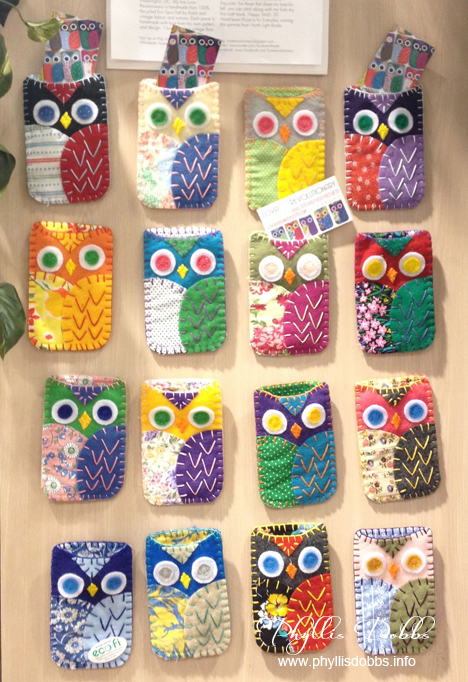 Cell phone cases made with Kunin felt at CHA
