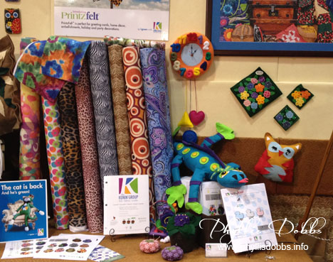 Kunin Felt display at Quilt Market