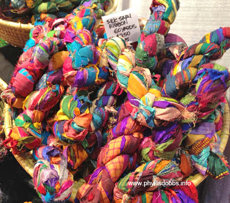 Leilani Arts silk yarns at quilt market