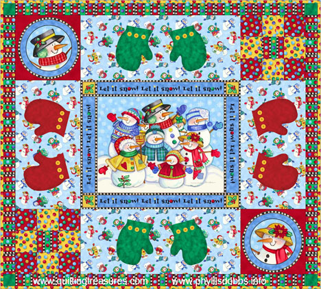 Let it Snow Free quilt Pattern by Phyllis Dobbs for Quilting Treasures