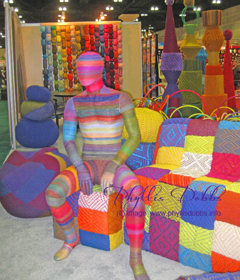 Lion Brand Yarn booth
