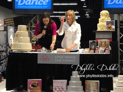 Mich Turner of Little Venice Cakes at Darice CHA