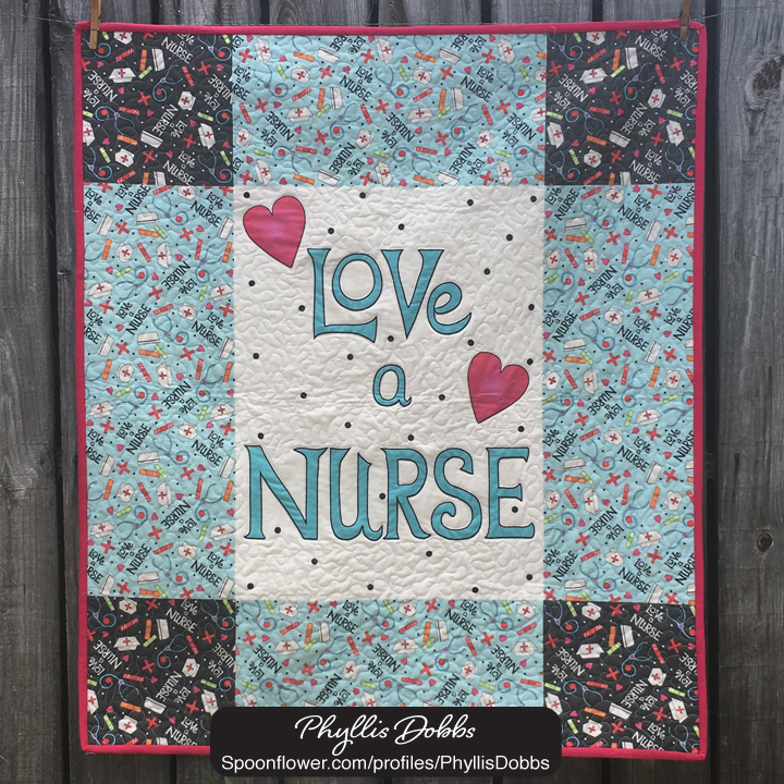 Love a Nurse Quilt Top