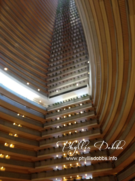 Marriott Marquis Atlanta pattern of floors