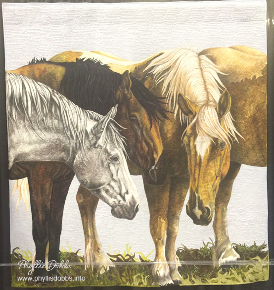 One Fine Day wild horses quilt