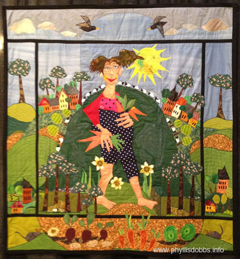 Quilt on exhibit at Internation Quilt Market, Organic is good for you
