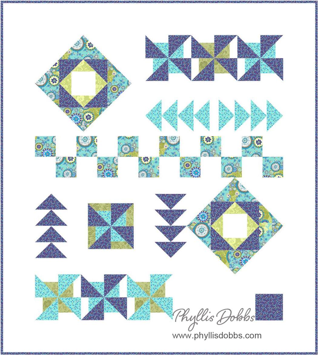 Bohemian Modern quilt pattern