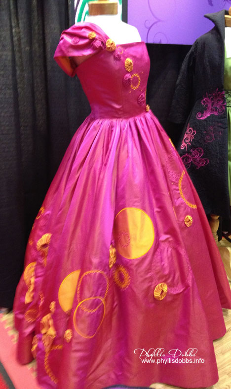 Dress embroidered by Pfaff sewing machine at Houston Quilt Market