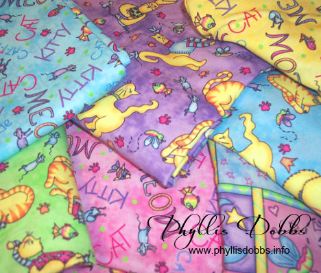 Meow Cat Fabrics Phyllis Dobbs