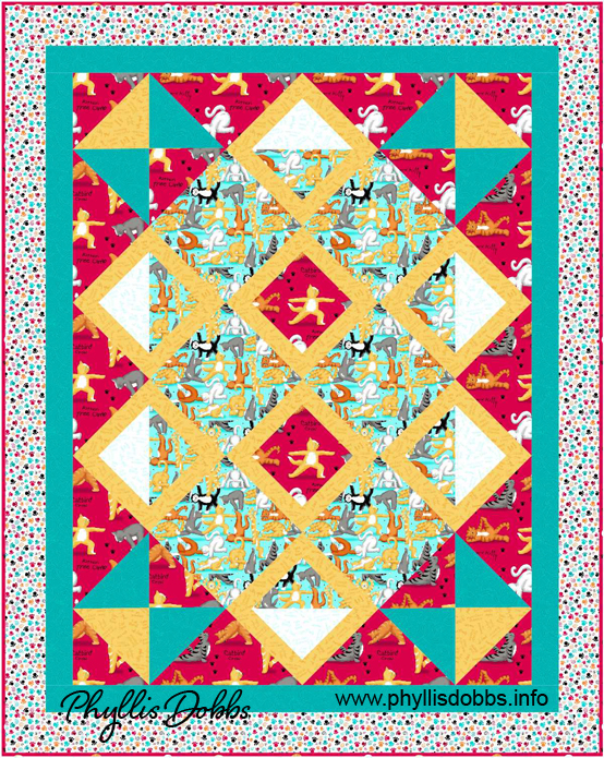 Purr-fect Balance Kitty Yoga Quilt free pattern