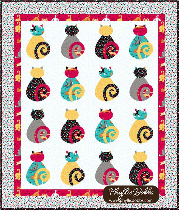 Kitty Cat Applique Quilt Pattern