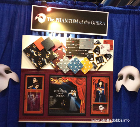 Phantom fabric by Quilting Treasures based on Phantom of the Opera