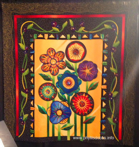 "Really ""Wild"" Flowers Second Season quilt at Houston Quilt Market"
