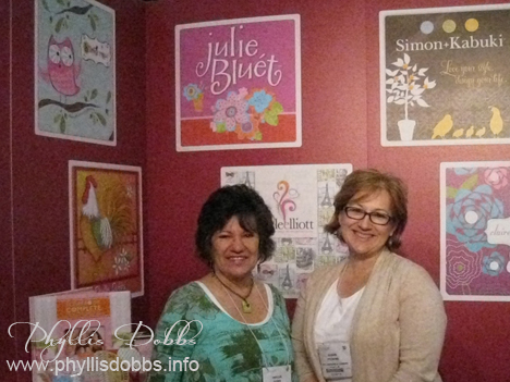 Robin Pickens and Phyllis Dobbs at Surtex