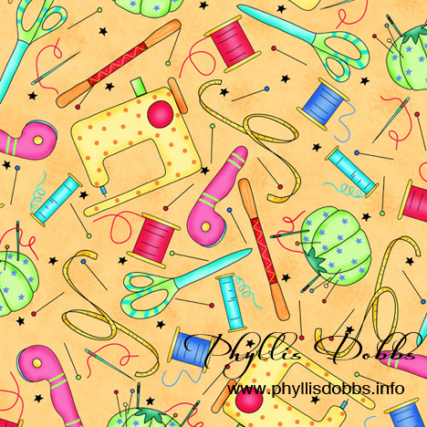 Sewing design fabric Phyllis Dobbs VIP