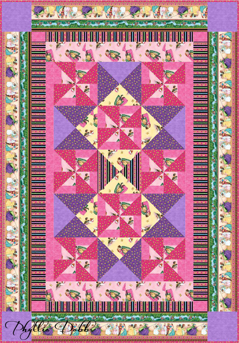 Mary Engelbreit's Sleeping Beauty fabrics free quilt pattern