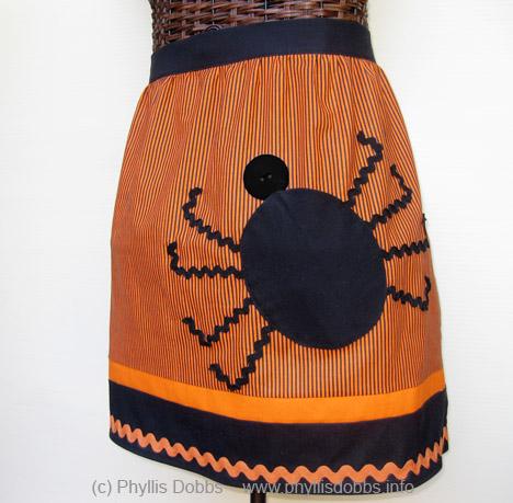 Spider Halloween Apron Free Pattern