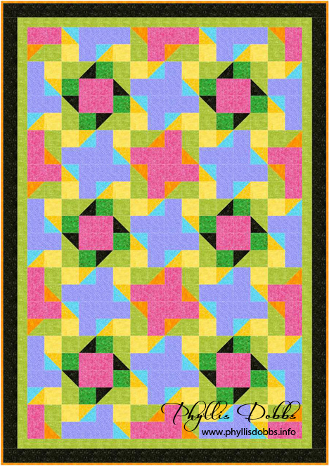 Splash of Color quilt pattern