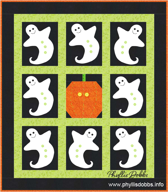 Spooky Ghost Quilt by Phyllis Dobbs for Quilt Dash