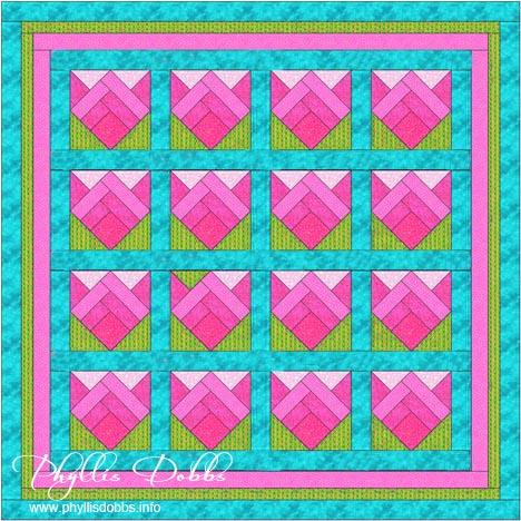 Spring Blooms Free Dash Quilt Pattern Phyllis Dobbs