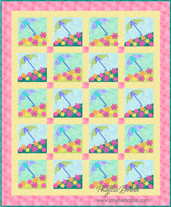 Spring Showers May flowers Quilt Pattern