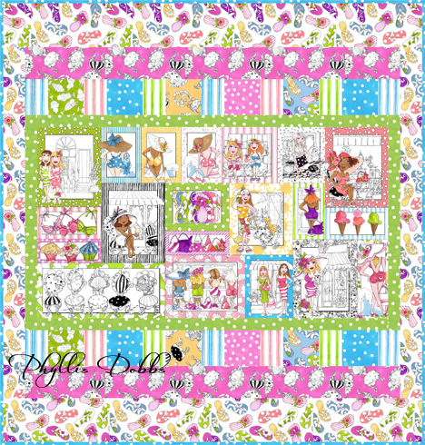 Free quilt pattern for Quilting Treasures Sunshine Resort fabrics
