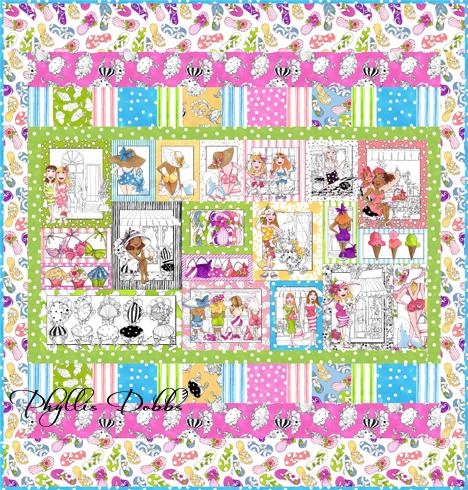 Free quilt pattern for Quilting Treasures Sunshine Resort fabrics