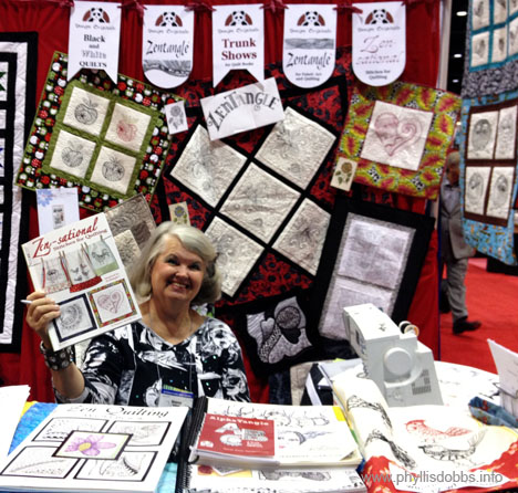 Suzanne McNeill of Design Originals at Quilt Market in Houston