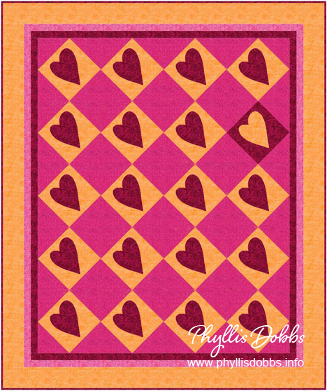 Sweetheart Quilt pattern by Phyllis Dobbs