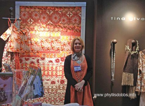 Tina Givens booth at Quilt Market