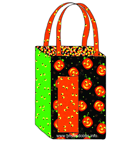Free Pattern Halloween Treat Bag by Phyllis Dobbs