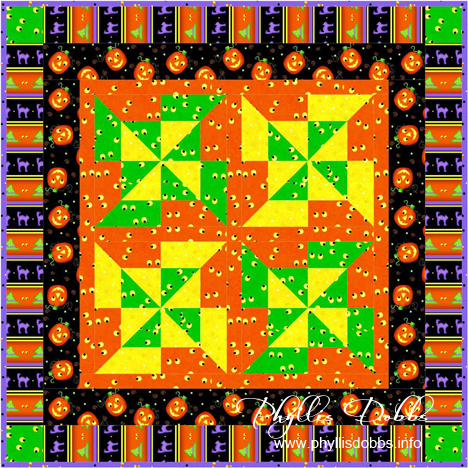 Tricks and Treats Table Topper by Phyllis Dobbs for Quilting Treasures