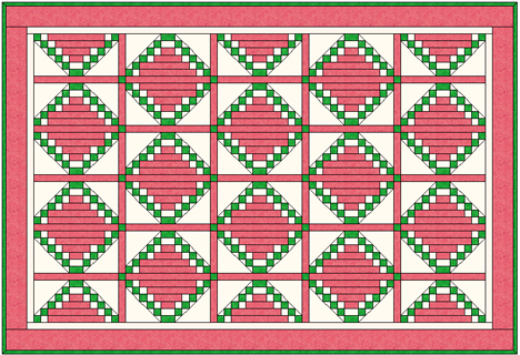 Watermelon Crawl quilt pattern