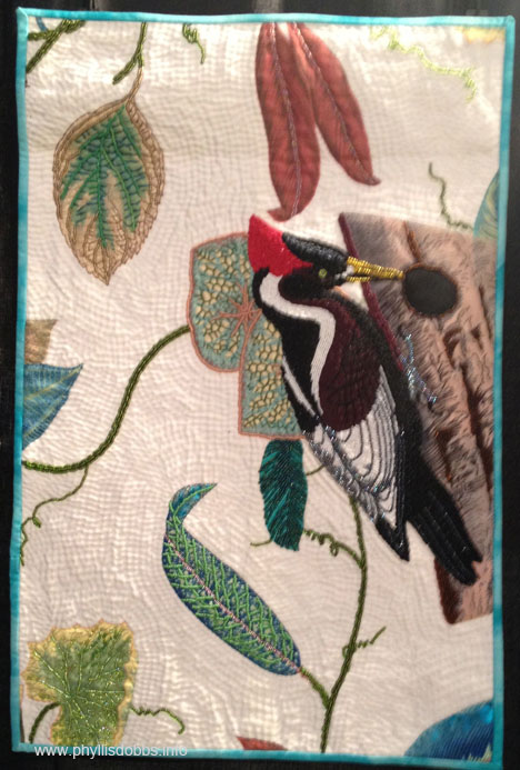 Woody Quilt by Bonnie Ouellette at Houston Quilt Market