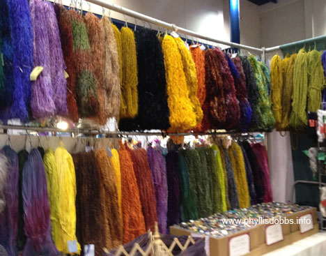 Hand Dyed yarns at Houston Quilt Market