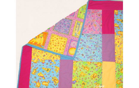 Quilt made by Apryl with Meow Meow fabric