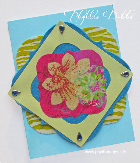 Greeting card made with Sizzix die