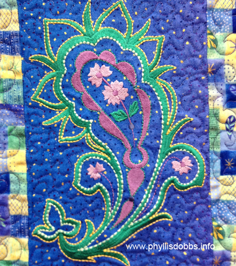 Positively Paisley embroidery closeup